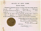 PRES. FRANKLIN D. ROOSEVELT, signed as NY Gov. Extradition document, 1929