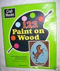 "Vintage Craft Master Art Paint by Number Playful PONY Wooden Set #10505 6"" x 8"""