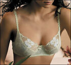 FELINA 7282 UNLINED LACE BRA : ONLY IN BEIGE WITH PINK FLOWERS (SEE THONG COLOR)