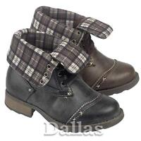 BOYS ANKLE SCHOOL BOOTS GIRLS BIKER FASHION MILITARY RIDING SHOES SIZE