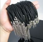Wholesale 20/50/100pcs Black Strings Velvet Necklace Cord Lobster Clasp
