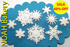 White Glittering Sugar Boutique Snowflakes edible Christmas cake cupcake topper