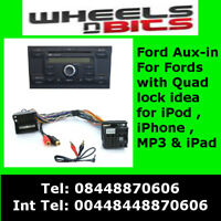 CTVFOX002 FORD Fiesta, Mondeo, Fusion, C-Max MP3 iPod iPhone iPad Aux In Adaptor