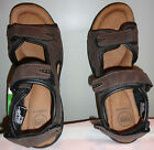 "CROFT & BARROW ""CBBAILBROWN"" Men's Brown Three Strap Padded Sandals Size 13"