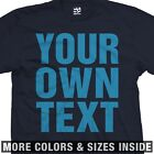 Custom Oversized Text T-Shirt - Personalized Your Text - More Sizes & Colors