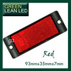 RED Reflex Reflector with Mounting Bracket 93x35x7mm bus truck trailer ADR