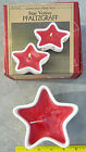 Pfaltzgraff 5 inch scented star votive Christmas candle ceramic w/holly swag bow