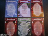 CHRISTMAS Graveside Bereavement Laminated  Memorial Cards Lots of different