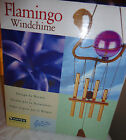 """HAYES FLAMINGO WIND CHIME DESIGN BY NATURE 20"""" HEIGHT NEW IN BOX"""