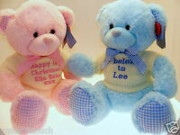 New Baby Gifts, Personalised Teddy Bear, Birthday, Shower Gift, Large Teddies