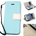 Leather Jelly Case Skin Cover Flip Pouch Clutch Card Wallet BLUE for iPhone 5 5g