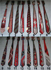 New Men's Red Necktie w/ Handkerchief Silk Polyester 16 Styles Pick Your Choice