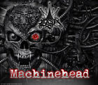 "YAMAHA BANSHEE GRAPHICS DECALS SET ""MACHINEHEAD"" FOR BLACK PLASTICS PARTS SKULL"