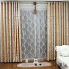 Pair of Eyelet Ring Top Curtains 60% blockout Jacquard BJY1000 4 Colors 6 sizes