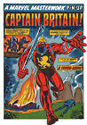 CAPTAIN BRITAIN MARVEL MASTERWORKS PIN-UP POSTER Vintage art Marvel UK British