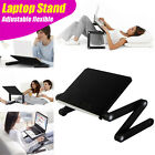 FLEXIBLE FOLDING ADJUSTABLE STAND DESK for Laptop Notebook iPad Tab : BLACK