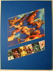 JUSTICE HEROES MATTED PRINT w MULTIPLE IMAGES Artwork by ALEX ROSS Frame Ready