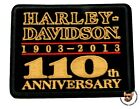 HARLEY DAVIDSON 110TH ANNIVERSARY SQUARE VEST PATCH - MADE IN USA
