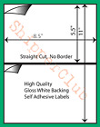 300 Full Half Sheet Shipping Labels Self Adhesive for PayPal USPS Fedex FW