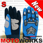 ADULT Gloves for Motocross ATV QUAD Dirt Gokart 4 Wheeler BUGGY MOTOR BIKE BLU S