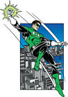 DC STYLE GUIDE PLATE - GREEN LANTERN OVER COAST CITY