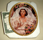 Gone With Wind Cameo Scarletts Moms Wedding Dress PEARLS & PROMISES Plate Bx+COA