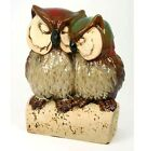 Ceramic Owl Mother & Baby Statue Ornament - CLEARANCE SALE