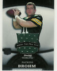 2008 BOWMAN STERLING BRIAN BROHM JUMBO JERSEY RC 144/309 GREEN BAY PACKERS