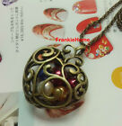 Vintage style Hollow Out Heart Color Beads Pendant Necklace