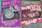 2 Vintage 1942 Crochet House & Doilies Patterns Manuals Directions Crafts Home