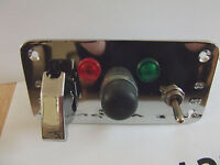 Ignition  Switch  Panel  Push  Button  Start   WITH CHROME  FLIP AIRCRAFT COVER