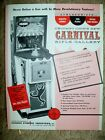 Chicago Coin's CARNIVAL RIFLE GALLERY Arcade Game Flyer