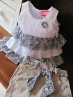 Girls /Toddler Two Piece Summer Short Outfit ..Lovely Broderie & Ruffles