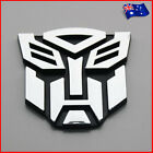 Transformers Autobot Logo 3D Silver Chrome Car Sticker Decal Auto Badge Emblem