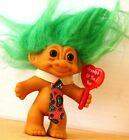 Vintage 1989 RUSS NWTags GRANDPA Of The YEAR Message Troll GREEN Hair