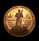 1967 CANADA CONFEDERATION MEDAL * STRUCK BY ONTARIO GOVERNMENT GOLD COLOR SCARCE