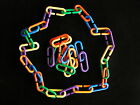 "100 PLASTIC ""C"" LINKS Bird Toys Parts Kids Toys Crafts COLORS!"