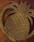 SOLID BRASS PINE APPLE ROUND SHAPE TRIVET