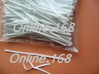 "Plastic Coated Wire Ties Twist Ties _ 6""/150mm_1000pcs_WHITE_FREE P&P"