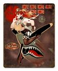 Flying Tiger Sexy Military Series heavy metal sign 11x15""