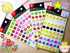 Cute Taiwan Binder Ring Reinforcement Label Stickers 54 Each Binder Rings New!!