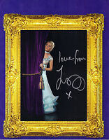 """LOVELY 10"""" x 8"""" PHOTO (COA) SIGNED """"TTM"""" BY ZOE LUCKER IN """"STRICTLY"""" DANCE POSE"""