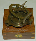Nautical Brass Sundial Compass With anchor wood box