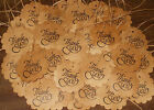 "NEW 50 THANK YOU CIRCLE W/ SCALLOPED EDGE 2"" PRIMITIVE HANG TAGS"