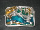 western belt buckle FLY FISHING collectable