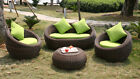 Outdoor Round Quality Rattan Wicker Sofa Lounge Set RRP $2500