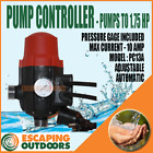 Water Pump Controller Pressure Switch Adjustable suits Jet, Stage & House Pump