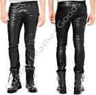 BESPOKE GENUINE LEATHER Mens THIGH FIT LUXURY PANTS JEANS TROUSERS BREECHES