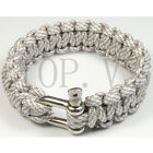 Paracord 550 Bracelets Buckle Camping Survival Gear Tool Camping Metal shackle D