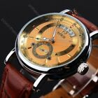 GORGEOUS Ultra-thin Golden Hollow Carve Dial Luxury Men Mechanical Wrist Watch